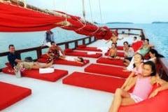 Koh Samui Boots Ausflug - Entspannen auf dem Sonnendeck