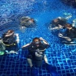 Students at Pool during a Koh Tao Diving Course