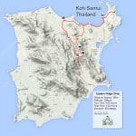 Custom Samui Bicycle Tours -Eastern Ridge Climb Tour Map