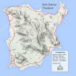 Custom Samui Bicycle Tours - Full Island Tour Map