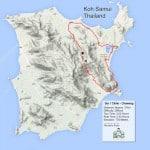 Custom Samui Bicycle Tours - Soi 1 Climb Tour Map