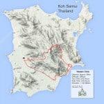 Custom Samui Bicycle Tours - Western Climb Tour Map